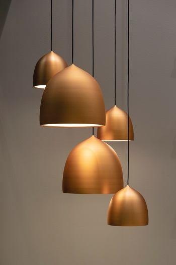 Koperen lampen