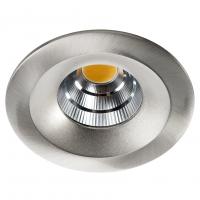 LED inbouwspot 10W geborsteld staal UNILED 2700K SG 997276