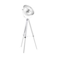 Eglo Covaleda Vloerlamp 1-lichts Wit Chroom Zilver - 55 cm