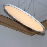 LED Paneel rond 40W 4277 lumen 3000K 610mm UGR <19 wit frame 174-204