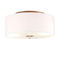 Landelijke ronde plafondlamp creme wit 30cm - Drum