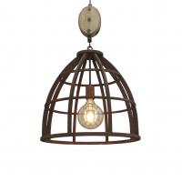 Industriele ronde hanglamp roest 48cm - Arthur