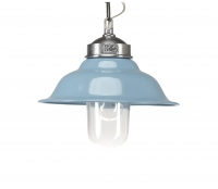 Porto Fino Retro hanglamp Ø 30cm aluminium blauw Blauw
