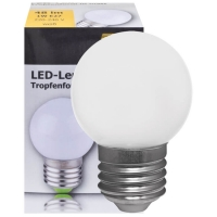 LED lamp E27 warm wit 2700K 1 Watt 48 lumen feestverlichting