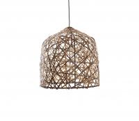 Black Bird's nest hanglamp M Ø 57 cm bamboe