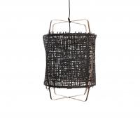 Z11 hanglamp Ø 49 cm met zwarte hoes bamboe papier