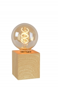 Lucide PABLO Tafellamp E27 L8cm B8cm H9cm Hout