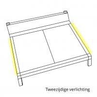 Bedverlichting 2 zijden complete set 1 meter LED strip warm wit met bewegingssensor