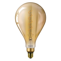 Philips Classic LEDbulb Vintage E27 A160 5W 820 Goud   Vervangt 25W