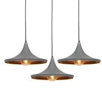 Set van 3 hanglampen Depeche Solo 1 grijs met goud